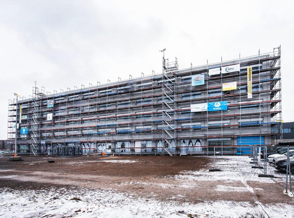 Betonretusche MTU Hannover Baustellenbild